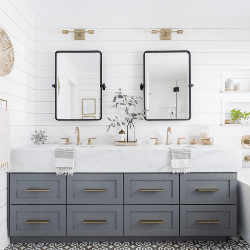Double Vanity Ideas To Try In Your Bathroom, How To Decorate Mirror In Bathroom
