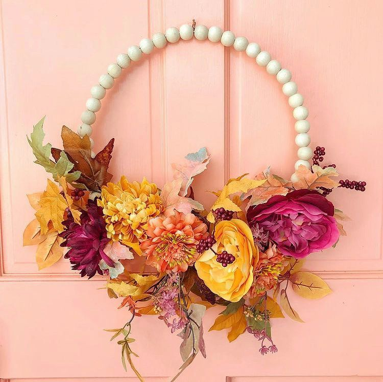 beaded fall wreath