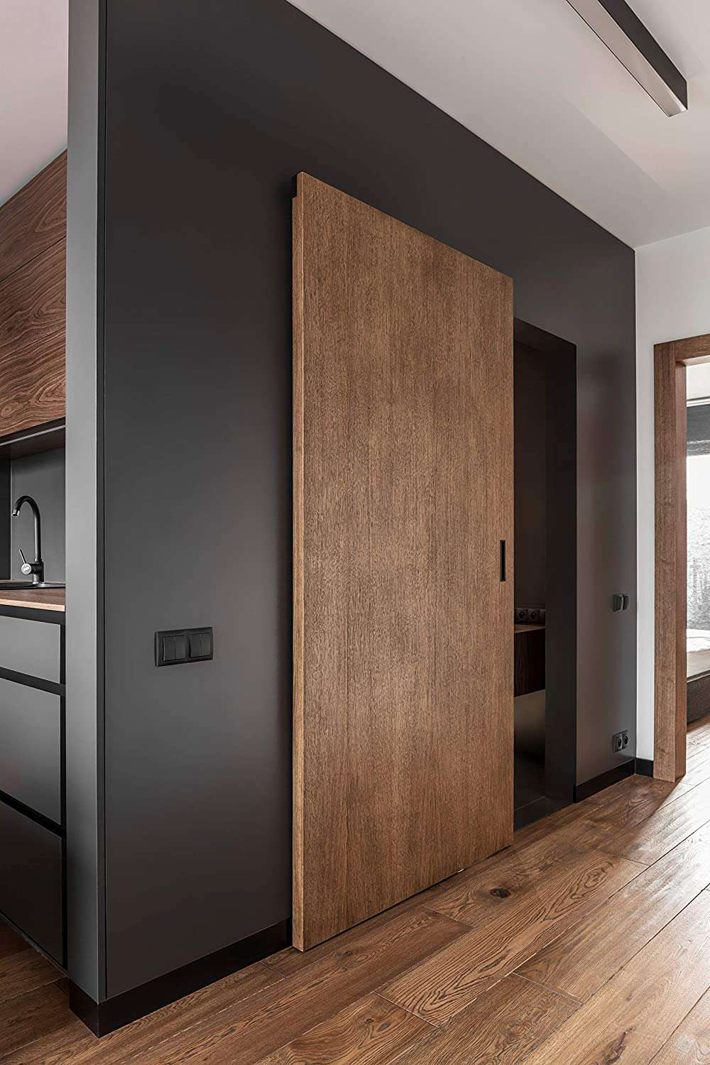 Wall Mount Concealed Sliding System for Wood Doors