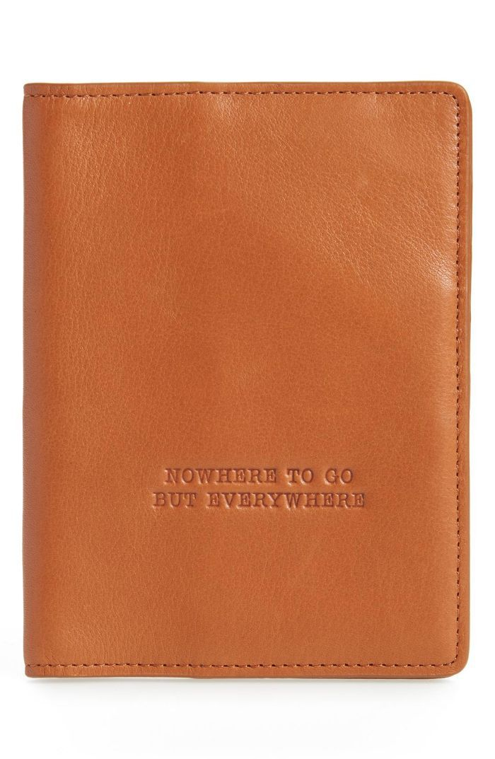 Quest Calfskin Leather Passport Wallet Travel Delay Protection