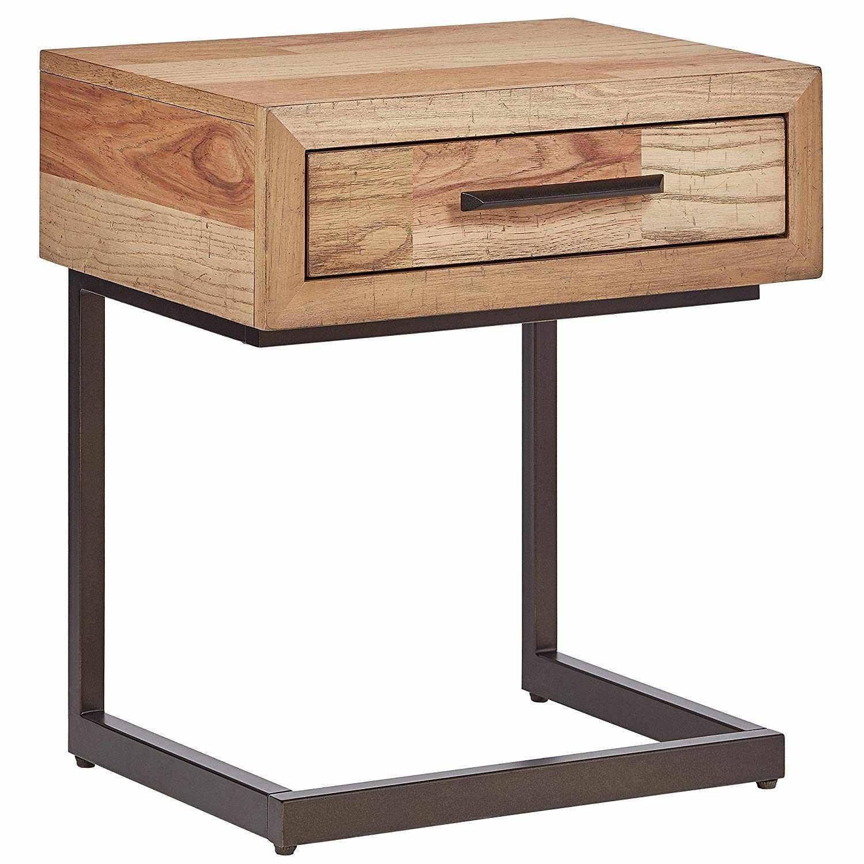 Fisher Rustic Wood Nightstand