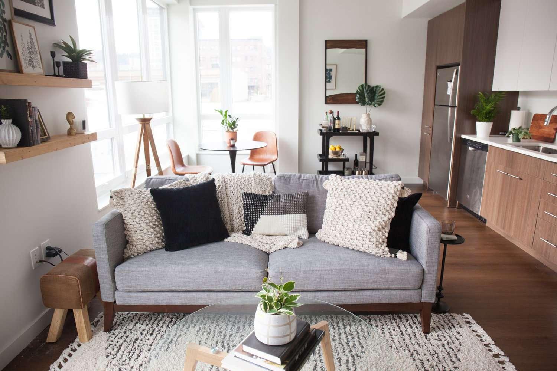 Modern styled studio apartment