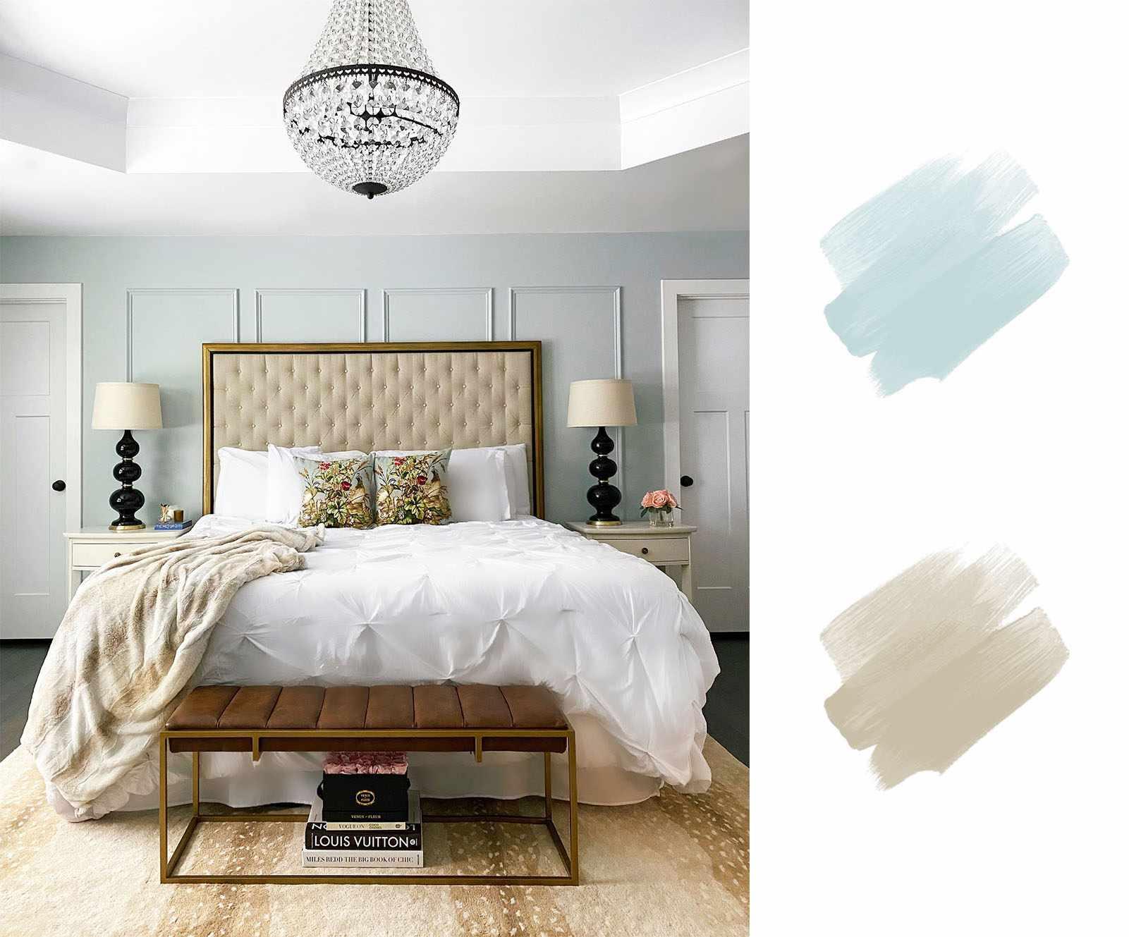 best interior color schemes - blue and beige