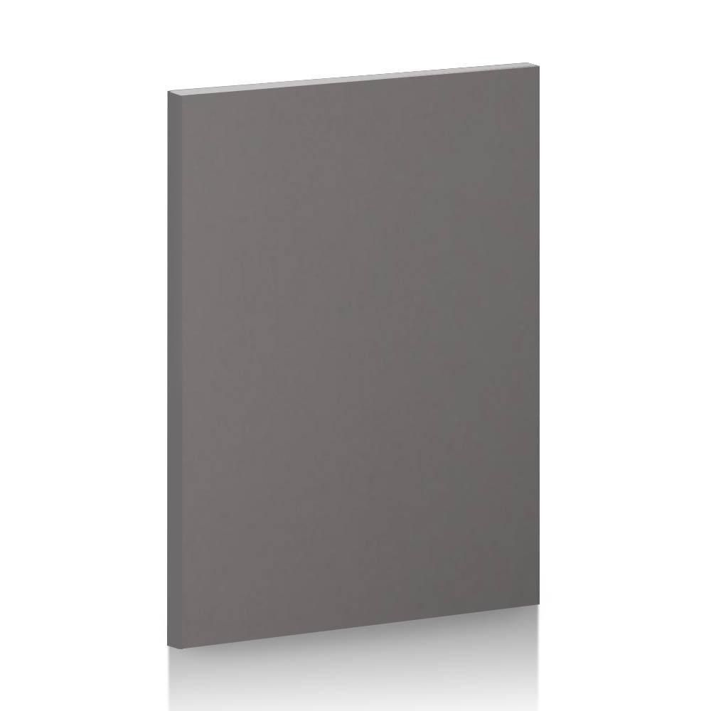 A gray kitchen cabinet front you can buy at Semihandmade