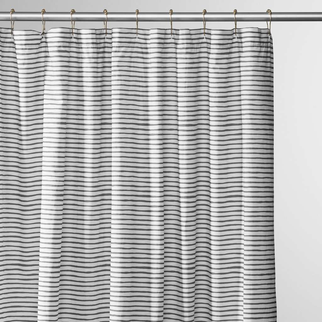 Schoolhouse Painterly Stripe Shower Curtain