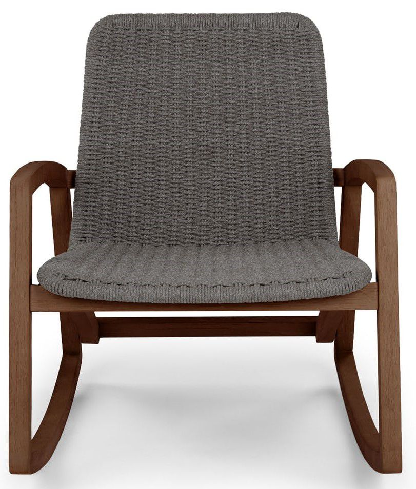 Article Lynea Freckle Gray Outdoor Rocking Chair