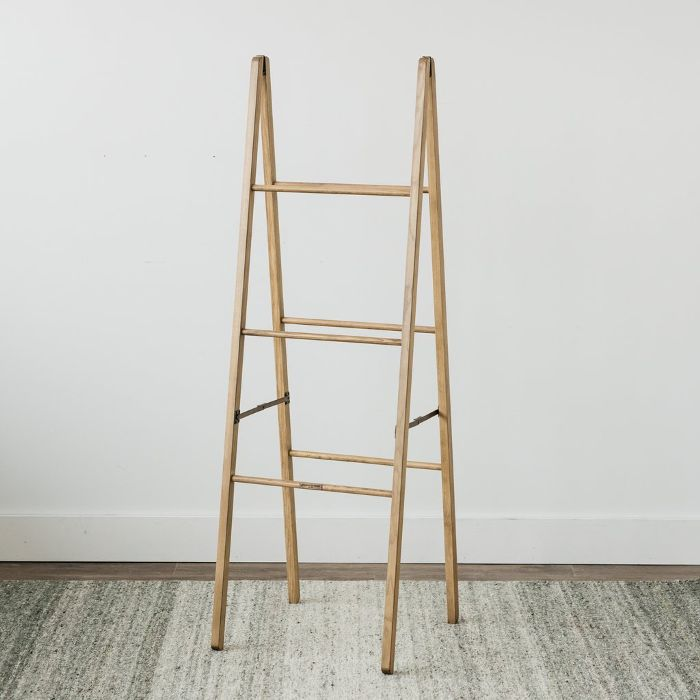 Magnolia Wallace Standing Wooden Ladder
