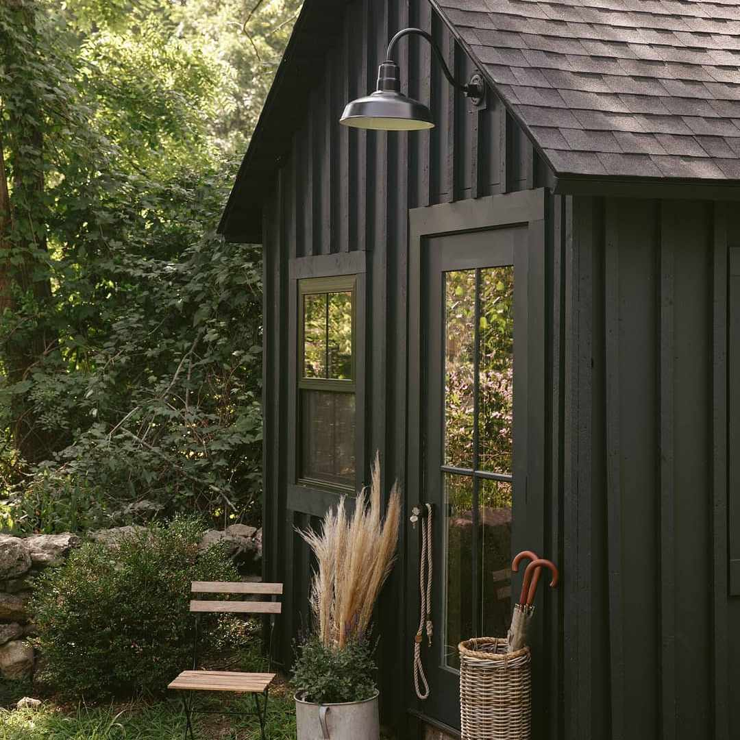 Shed painted black