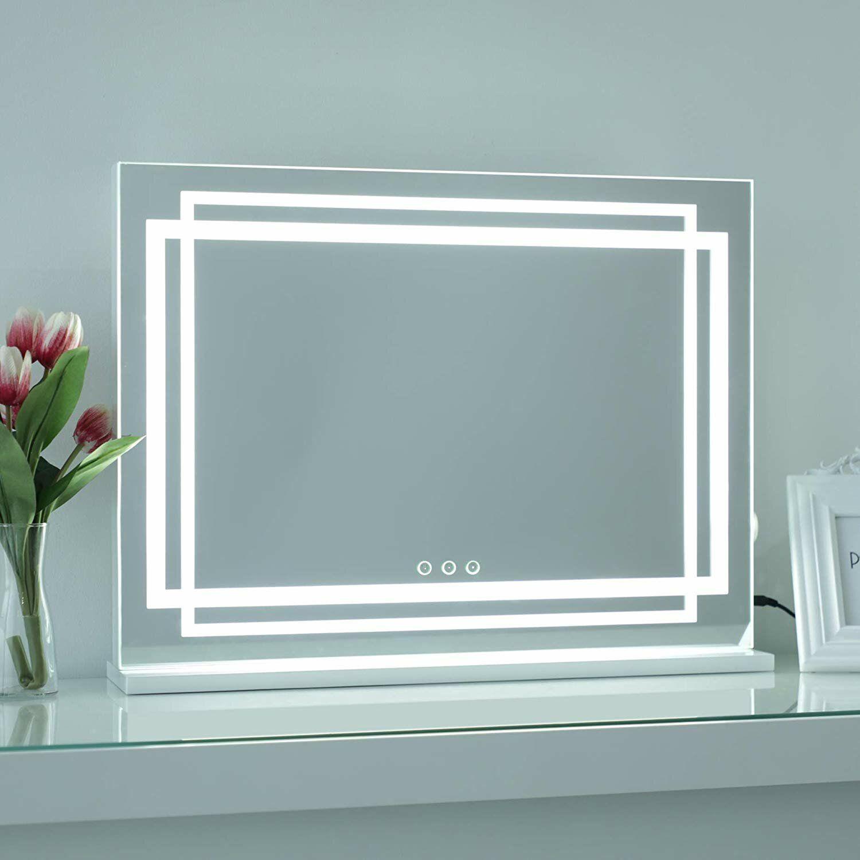 Orren Ellis Trescott Frameless Lighted Makeup Mirror