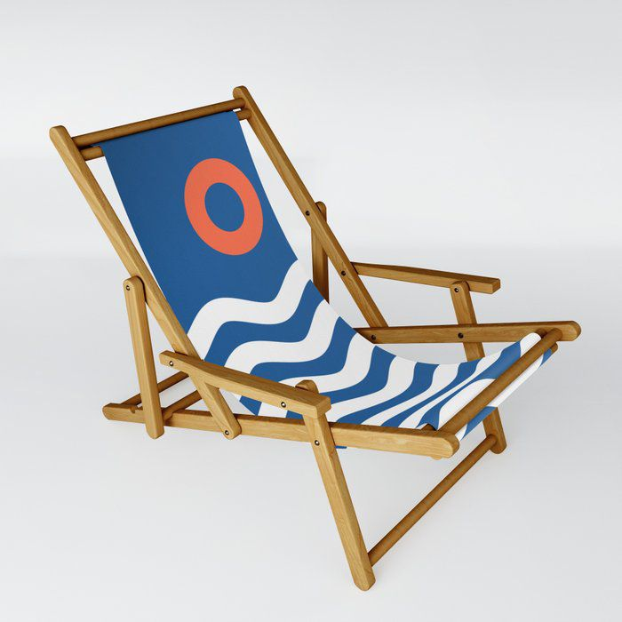 Nautical Seascape Sling Chair