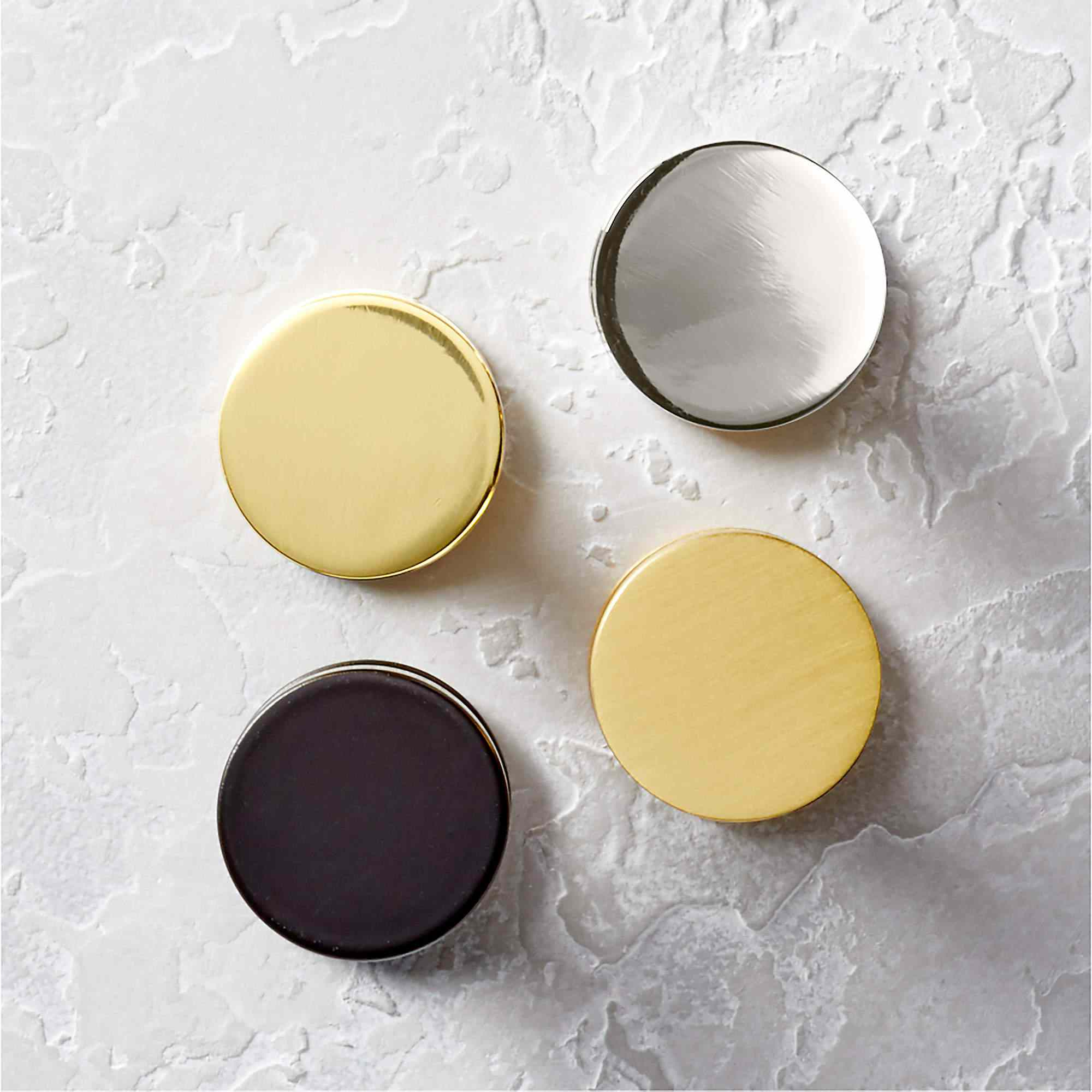 Four round doorknobs you can buy at CB2