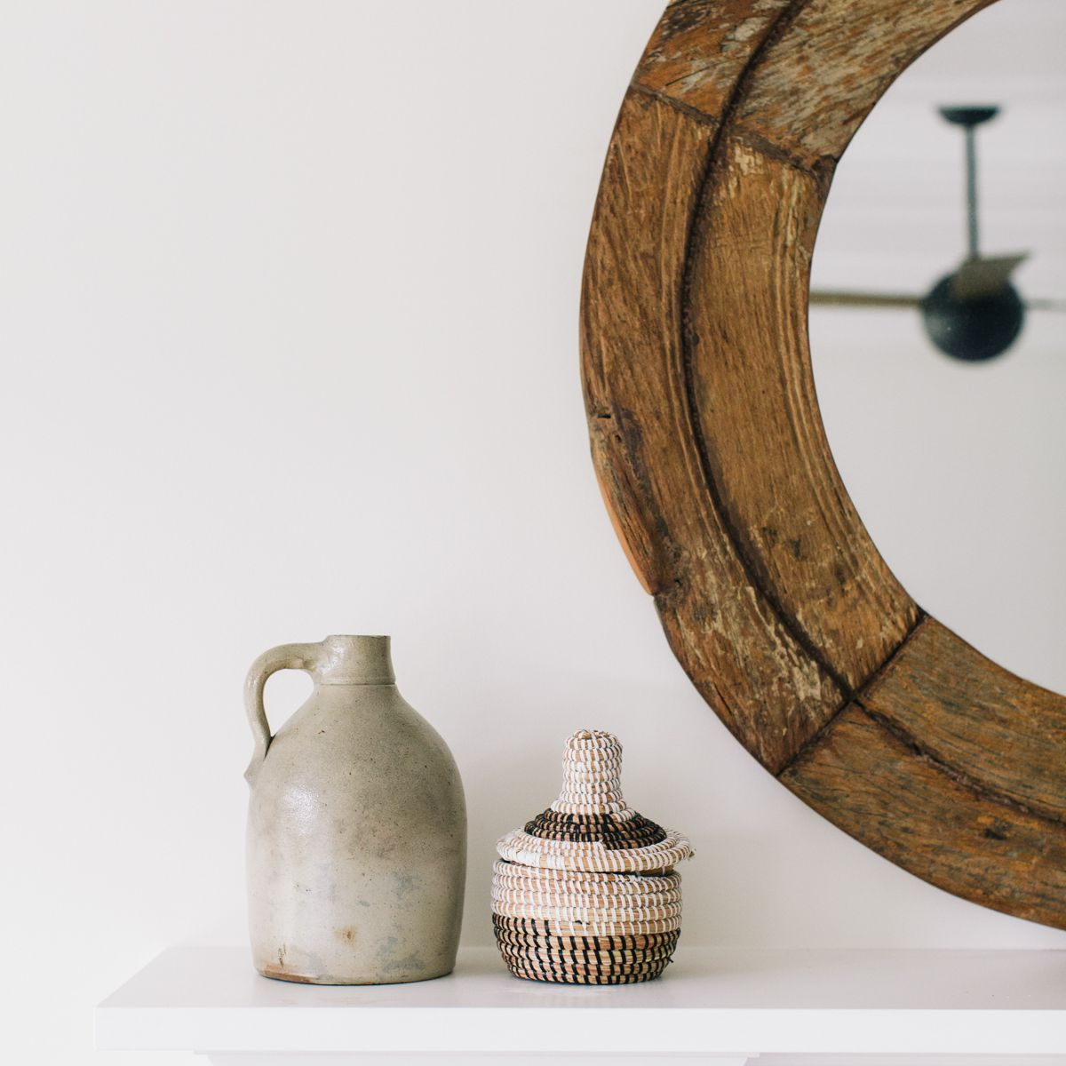 how to decorate with sage - bring in vintage pieces
