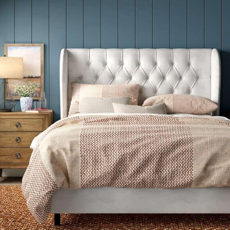Birch Lane Brockville Upholstered Panel Bed