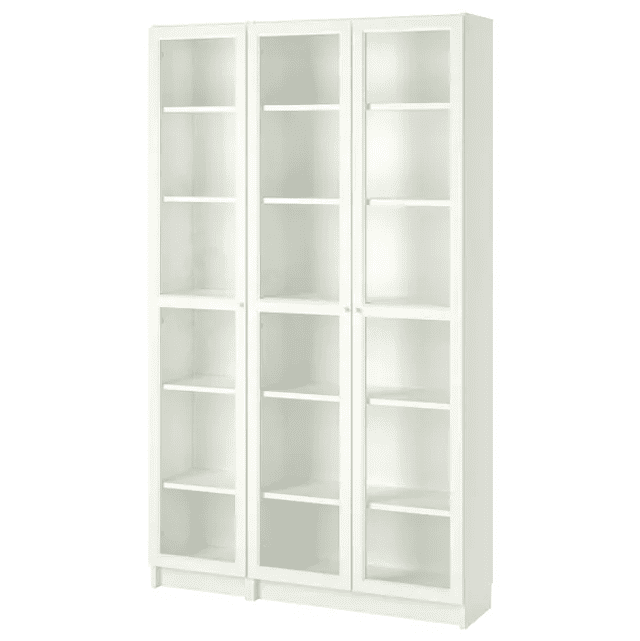 Billy Oxberg Bookcase With Glass Doors