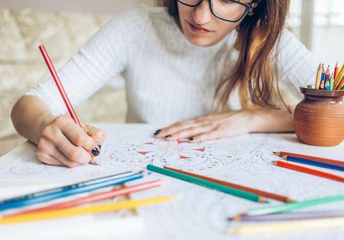 mujer para colorear libro para colorear para adultos