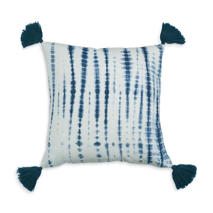 Shibori Tassel Decorative Pillow, 20 x 20 - 100% Exclusive