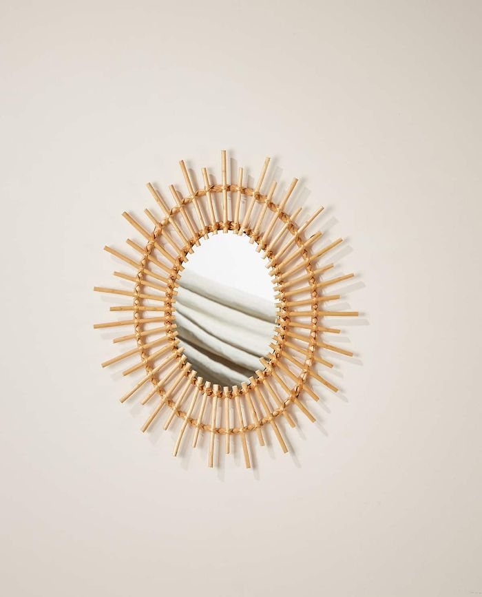 Zara Home Oval Bamboo Sun Mirror