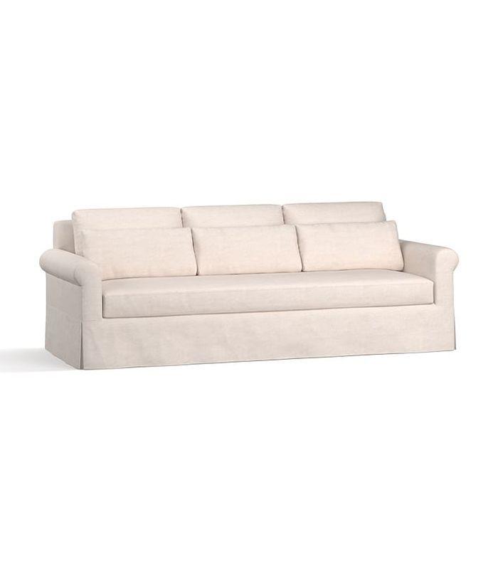 York Roll Arm Deep Seat Slipcovered Sofa