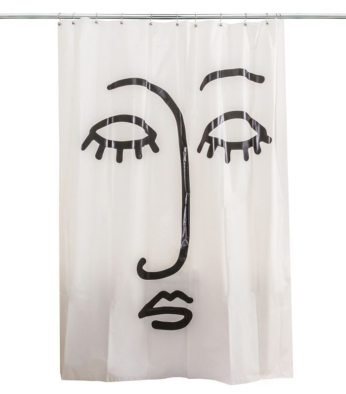 Room Essentials Face Shower Curtain