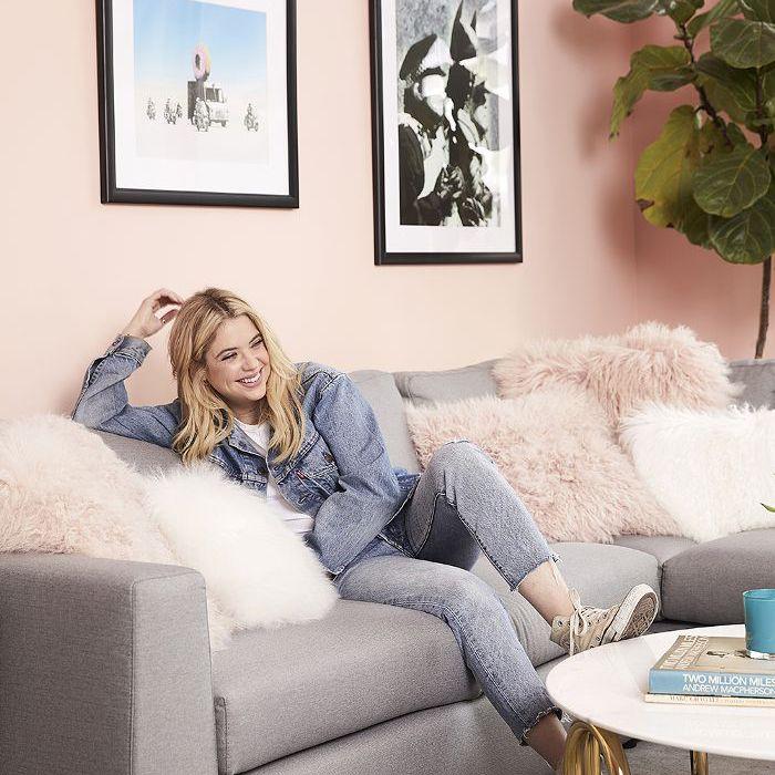 Ashley Benson in her Living Room