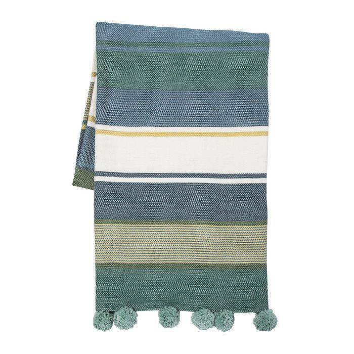 Target Teal and White Stripe Throw Blanket