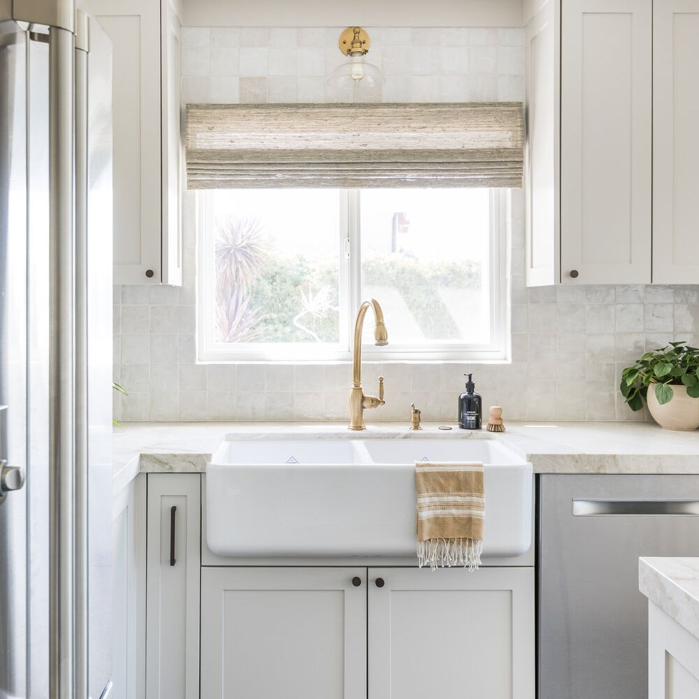 An ivory kitchen