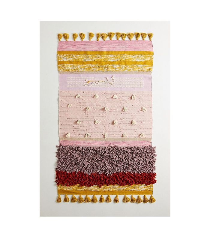 Anthropologie All Roads Texture-Striped Flatweave Rug