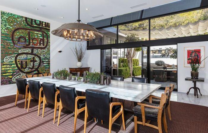 Ellen Degeneres Beverly Hills Home   Dining Room