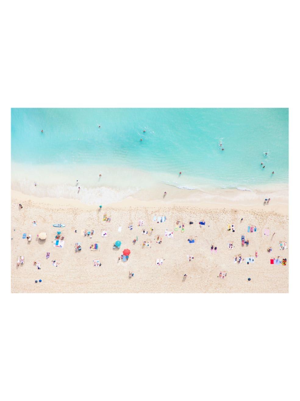 impresión de playa