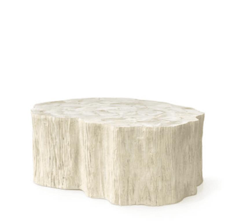 mesa de café fosilizada camilla