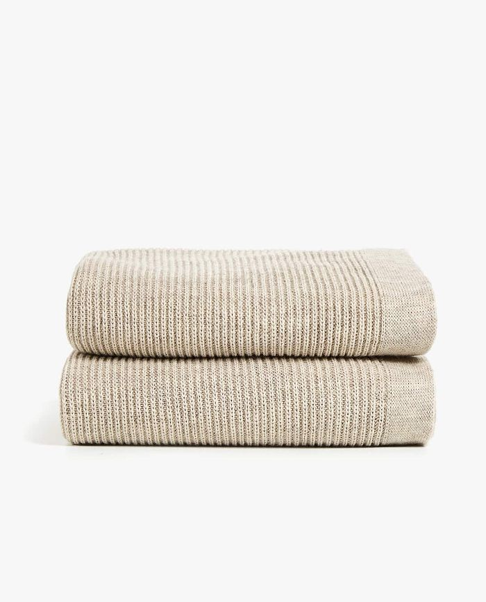 Zara Home Melange Effect Knit Blanket