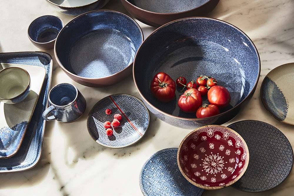 Dishes from Levis x Target collection.