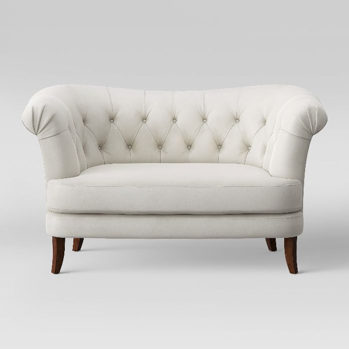 Opalhouse Juno Tufted Rollback Velvet Loveseat