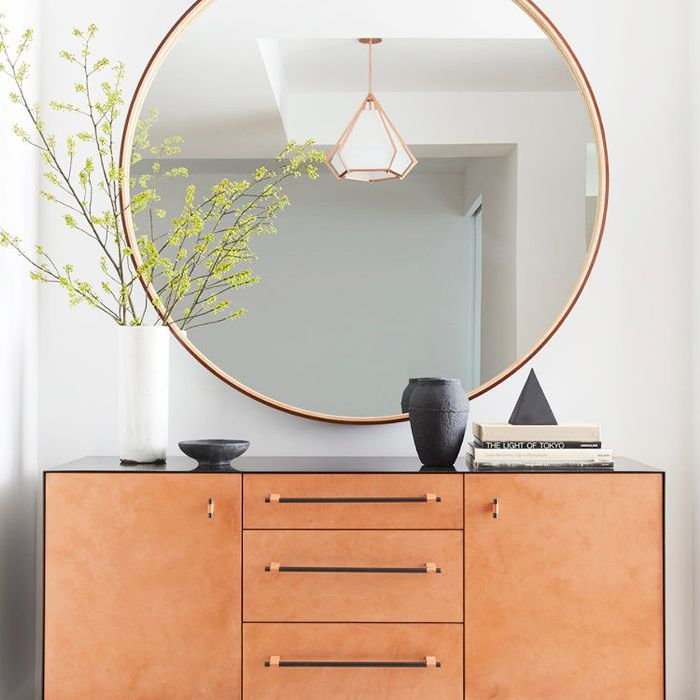 Fend Shui Layout with large circle mirror