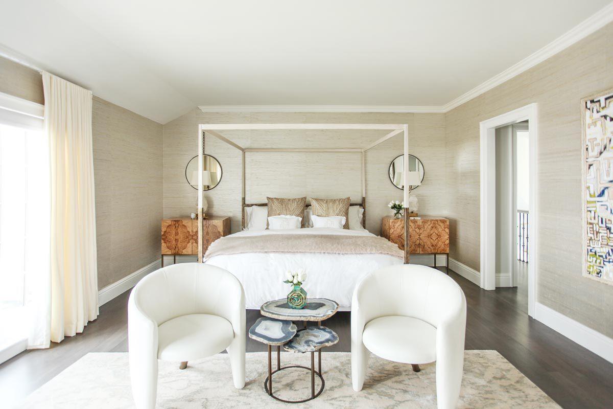 Dormitorio pálido en alquiler