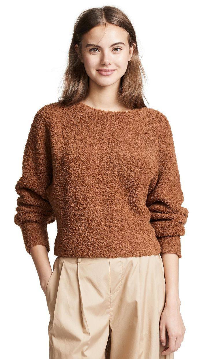 Teddy Boat Neck Sweater