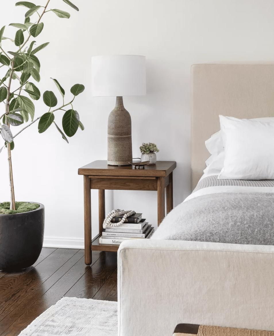 Bedroom with soft textures