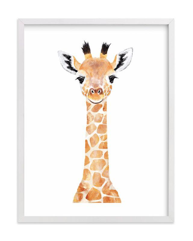 Baby Giraffe 2 Art Print