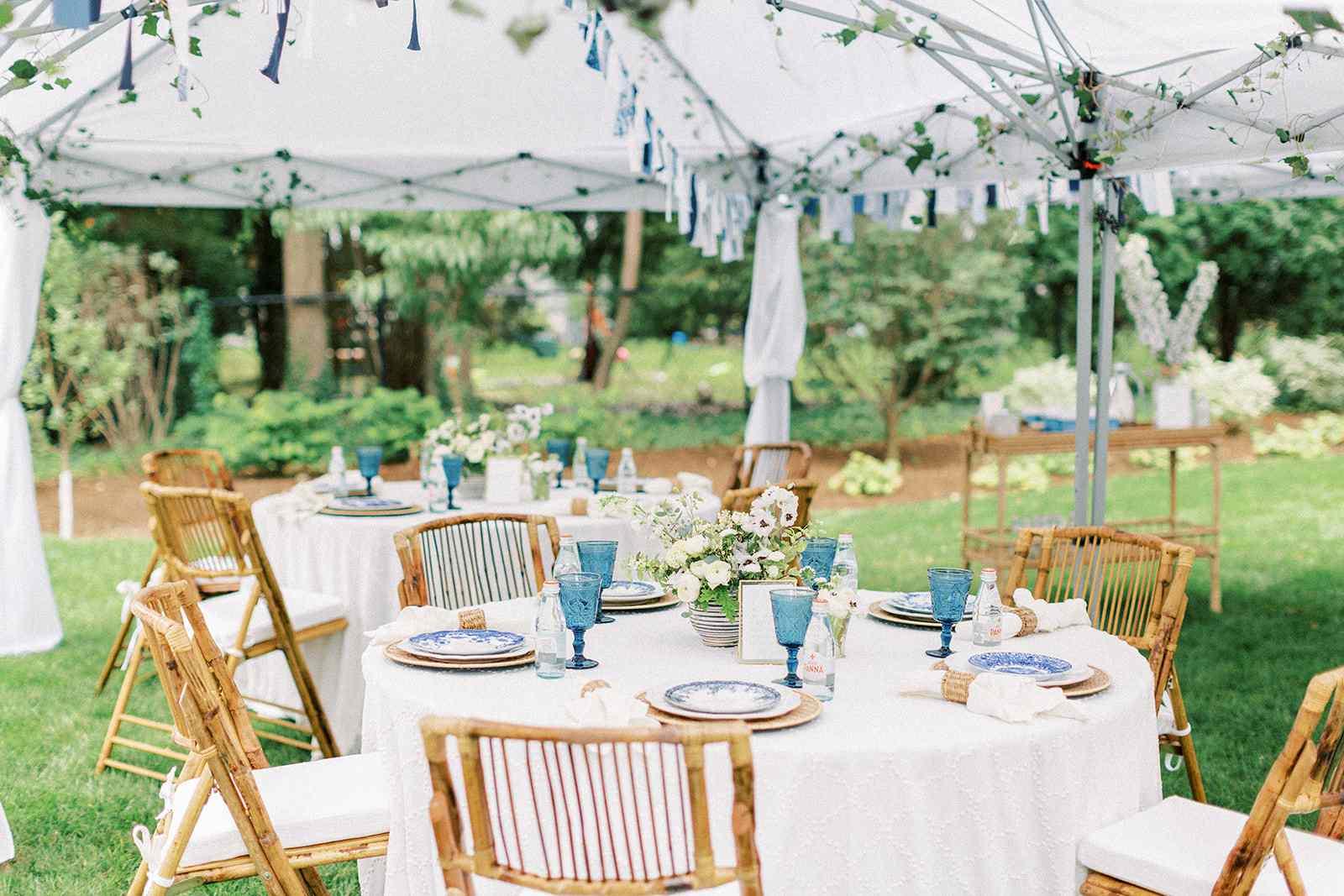 outdoor party idea garden party