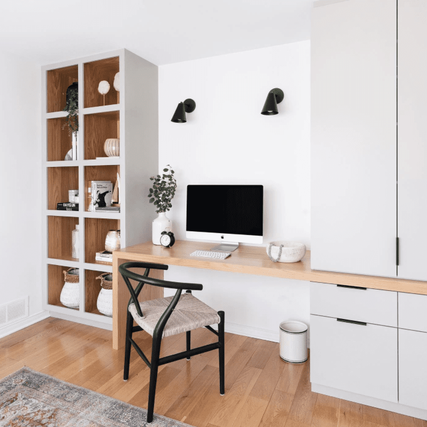 Office with white walls