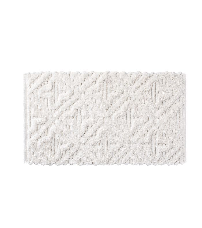 Target Textured Diamond Shag Bath Rug White