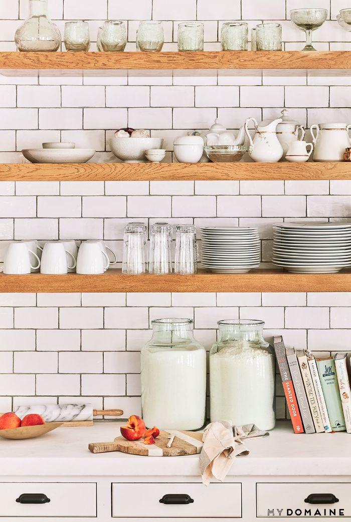 Open shelving—Lauren Conrad house