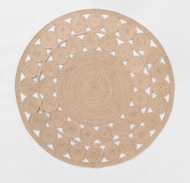 Target Opalhouse Round Ornate Woven Outdoor Rug