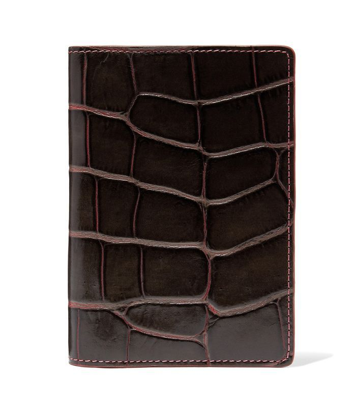 The Case Factory Croc-Effect Leather Passport Cover