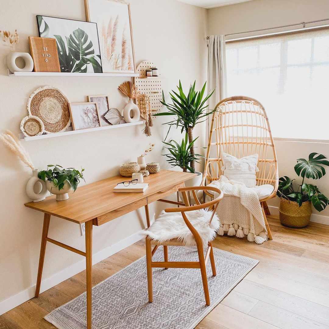 Boho style office