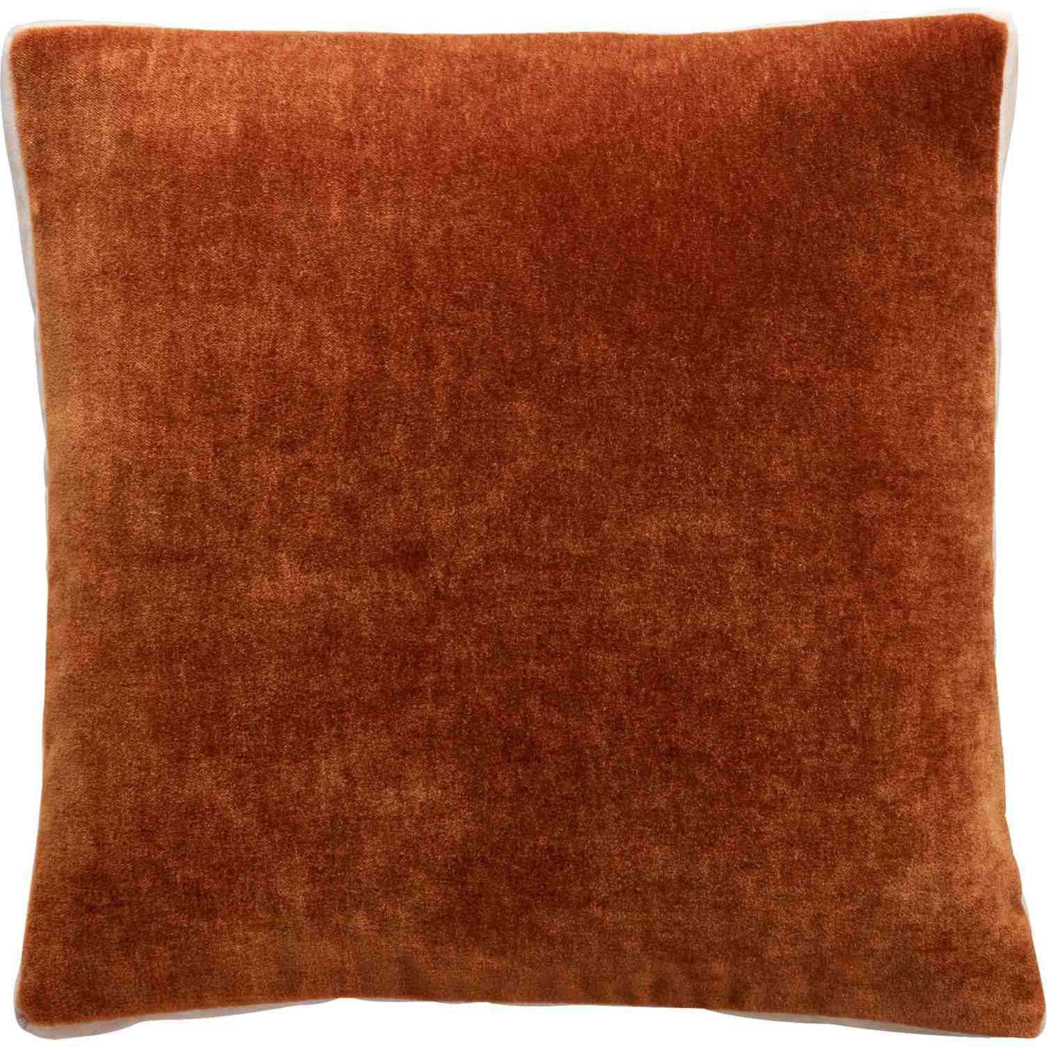 CB2 Cinnamon Mohair Pillow