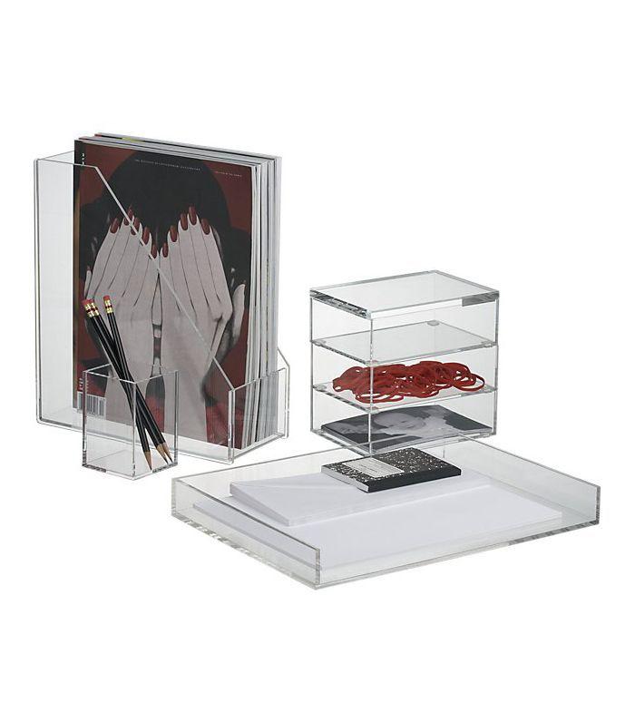 CB2 Acrylic Desk Accessories