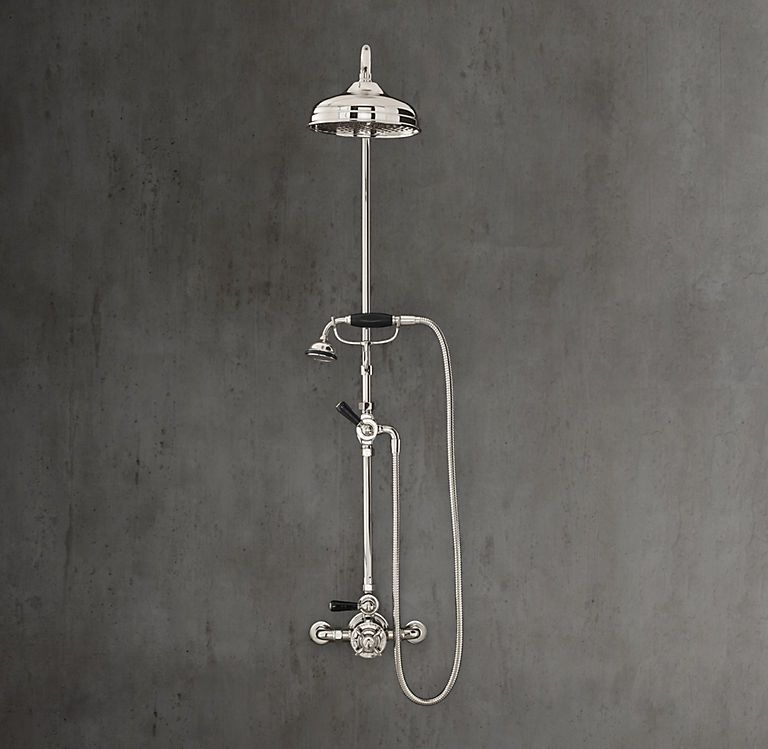 Lefroy Brooks Classic Black Thermostatic Complete Shower System
