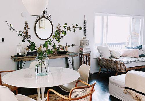 Living room wall colors—Victoria Smith, SFGirlByBay, white walls