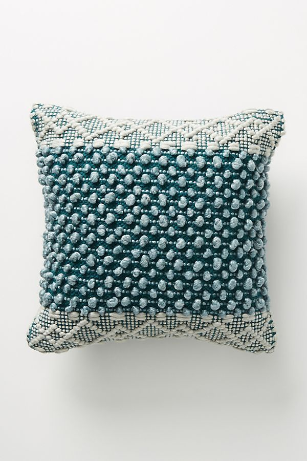 Joanna Gaines for Anthropologie Textured Eva Pillow in Dark Turquoise